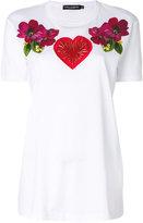 Dolce & Gabbana floral heart applique T-shirt