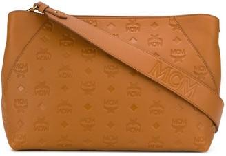 MCM Embossed Monogram Shoulder Bag