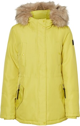 Vero Moda Expedition Hike Parka with Faux Fur Collar