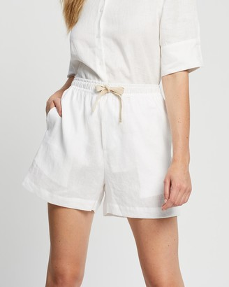 White By FTL - Women's White High-Waisted - Weston Shorts - Size One Size, 6 at The Iconic
