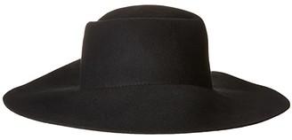 San Diego Hat Company WFH8057 Pleated Crown Floppy Hat (Black) Caps