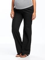 Old Navy Maternity Wide-Leg Linen-Blend Pants