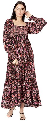 Free People Sweet Escape Maxi Dress (Black Combo) Women's Dress