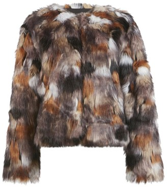 AllSaints Faux Fur Fifi Patch Jacket