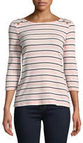 Tommy Hilfiger Ainsley Brionne Striped Cotton Tee
