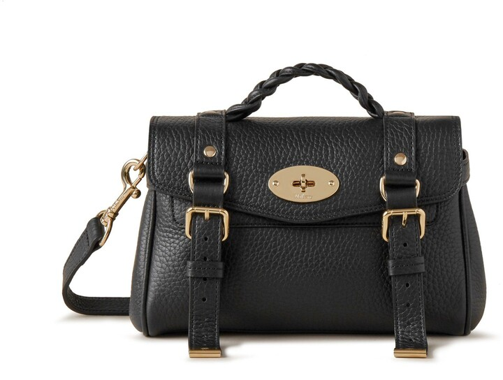 Mulberry Mini Alexa Black Heavy Grain