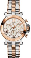 GUESS GUESS? Collection Women's Femme X73002M1S Two-Tone Stainless-Steel Swiss Quartz Watch with Mother-Of-Pearl Dial