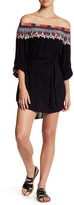 Red Carter Off-the-Shoulder Cover Up