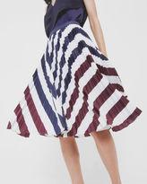 Ted Baker Rowing Stripe pleated midi skirt