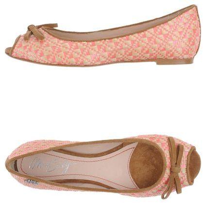 Miss Sixty Peep-toe ballet flats