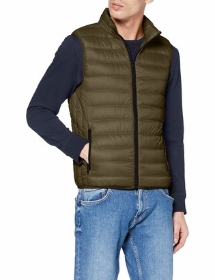 Benetton Men's Gilet Bomber Jacket