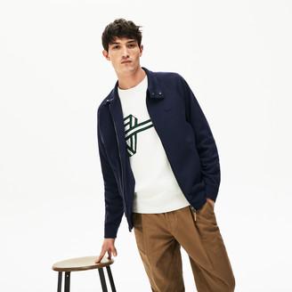 Lacoste Men's Zippered Solid Sweatshirt