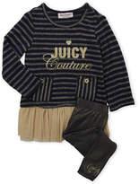 Juicy Couture Toddler Girls) Two-Piece Metallic Tulle Tunic & Leggings Set