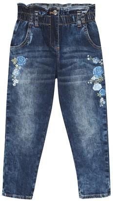 MonnaLisa Floral applique jeans