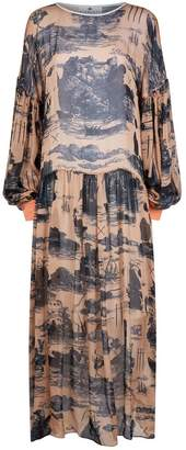 Klements Dusk Dress Doomed Voyage Print