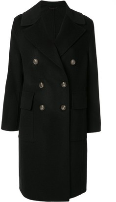 CK Calvin Klein Double-Breasted Coat