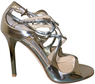 Jimmy Choo Lance Silver Leather Sandals