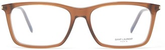 Saint Laurent Rectangular Acetate Glasses - Brown