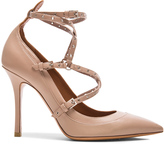 Valentino Love Latch Ankle Strap Leather Heels
