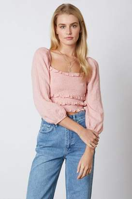Cotton Candy Smocked Crop Top
