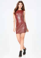 Bebe Seamed Faux Leather Dress