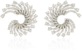 Yeprem 18K White Gold Inside Out Earrings
