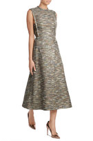 Emilia Wickstead Wool Dress with Metallic Thread