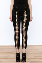 Hot & Delicious Black Lace Up Pants