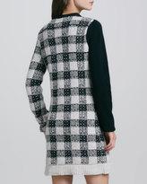 3.1 Phillip Lim Plaid Colorblock Knit Dress