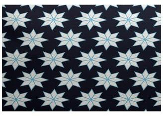 The Holiday Aisleâ® Christmass Flatweave Blue/Gray Rug The Holiday AisleA Rug Size: Rectangle 2' x 3'