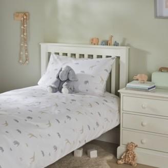 The White Company Safari Easycare Bed Linen Set, Multi, Cot Bed