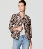 LOFT Spotted Cropped Jacket