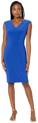 Lauren Ralph Lauren Jannette Cap Sleeve Day Dress (Rugby Royal) Women's Dress