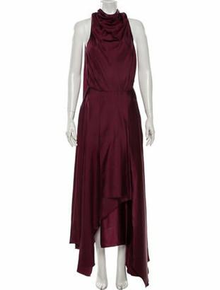 AMUR Silk Long Dress Silk Long Dress