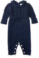 Ralph Lauren Aran-Knit Cotton Coverall