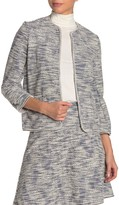 Max Studio Tweed Boucle Knit Short Jacket