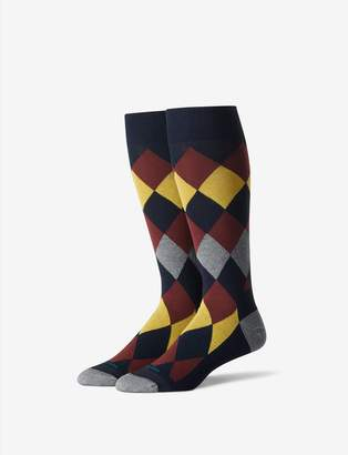 Tommy John Tommyjohn Argyle Stay-Up Dress Sock