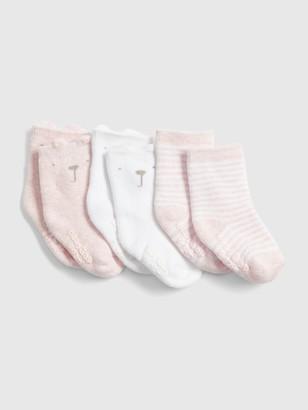 Gap Baby Brannan Bear Crew Socks (3-Pack)