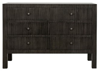 Noir Conrad 6 Drawers Double dresser