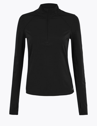 Marks and Spencer Half Zip Long Sleeve Running Top