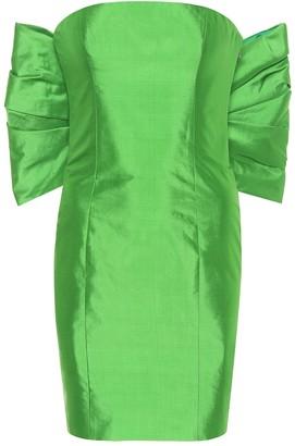 Rasario Exclusive to Mytheresa a Silk-satin strapless midi dress