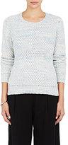 The Elder Statesman Women's Stockinette-Stitched Sweater-BLUE