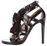 Proenza Schouler Patent Leather Lace-Up Sandals
