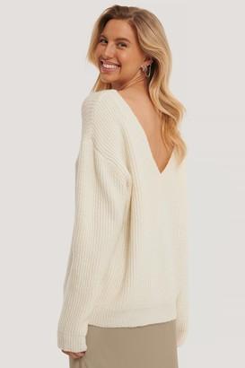 NA-KD Oversized Deep Back Sweater