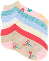 Kelly & Katie Women's Flamingo No Show Socks - 6 Pack -Multicolor