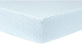 Trend Lab Aqua Herringbone Deluxe Flannel Fitted Crib Sheet