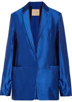 Roksanda Ravenna Wool-blend Lamé Blazer - Cobalt blue