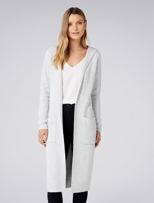 Forever New Aliza Hooded Cardigan - Iced Grey - xs