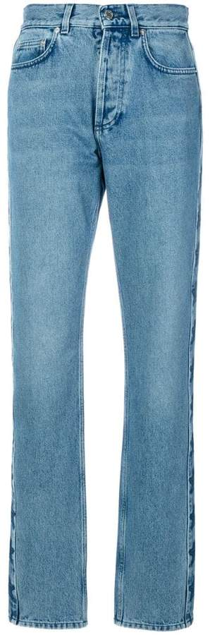 Givenchy star patch slouchy jeans