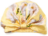 Violet & Wren Pleated Floral-Print Silk Turban